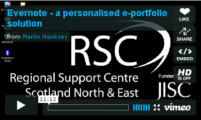 Click to play: Evernote - a personalised e-portfolio solution