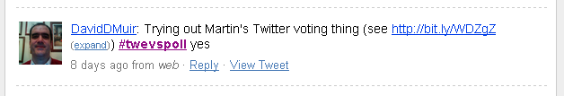 Electronic voting and interactive lectures using twitter (TwEVS)