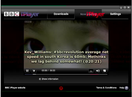 Twitter powered subtitles: Creation and playback for SMIL 3.0 SMILText, *.srt and Timed Text (BBC iPlayer)