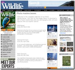 BBC Wildlife's photo materclass