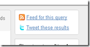 Twitter - Feed for this query