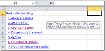 Cooking: A Custom Search Engine for … with Edublog 2010 Nominees