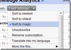 Google Reader 'magic'
