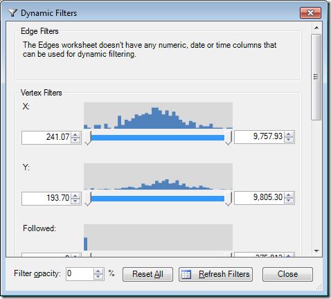 NodeXL - Dynamic Filters