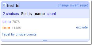 Google Refine - Blank facet