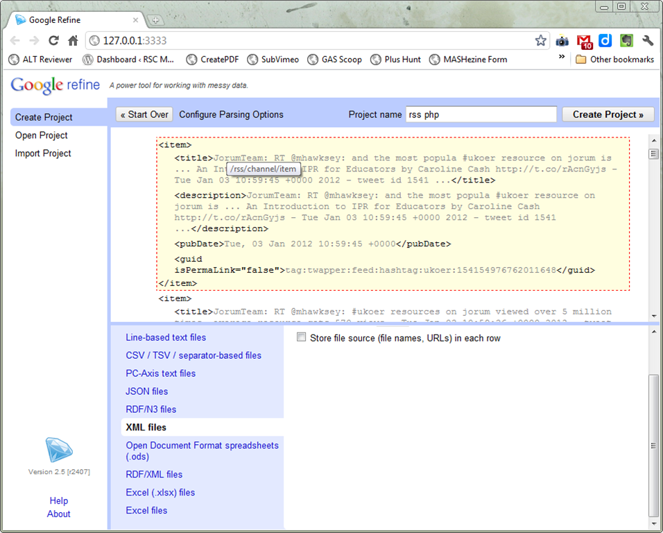 Free (and rebuild) the tweets! Export TwapperKeeper archives using Google Refine