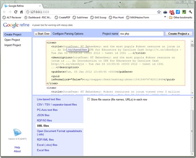 Refined parse xml