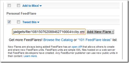 Add custom feedflare