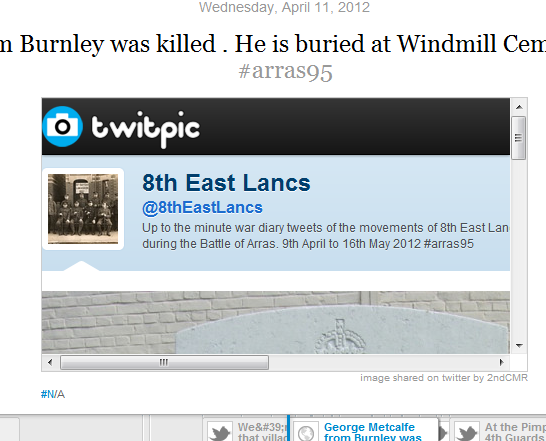 Revisiting: Experiment to dynamically timeline media posted on Twitter using Topsy and Timeline