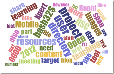 Notes on generating live wordclouds from Yahoo Pipes using D3.js