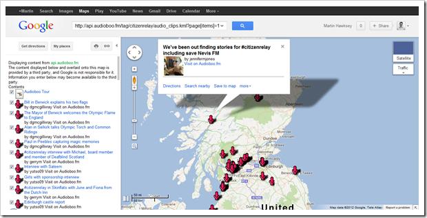 Google Map of CitizenRelay Boos