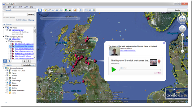 Google Earth of CitizenRelay Boos