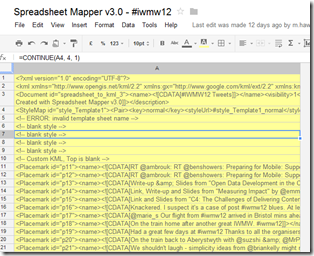 Getting formatted XML from Google Spreadsheet