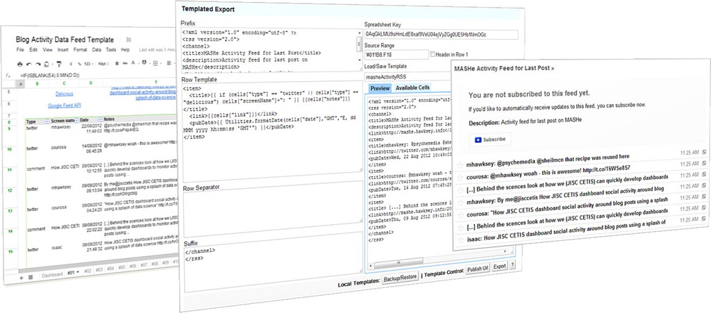 Templated Export for Google Spreadsheets