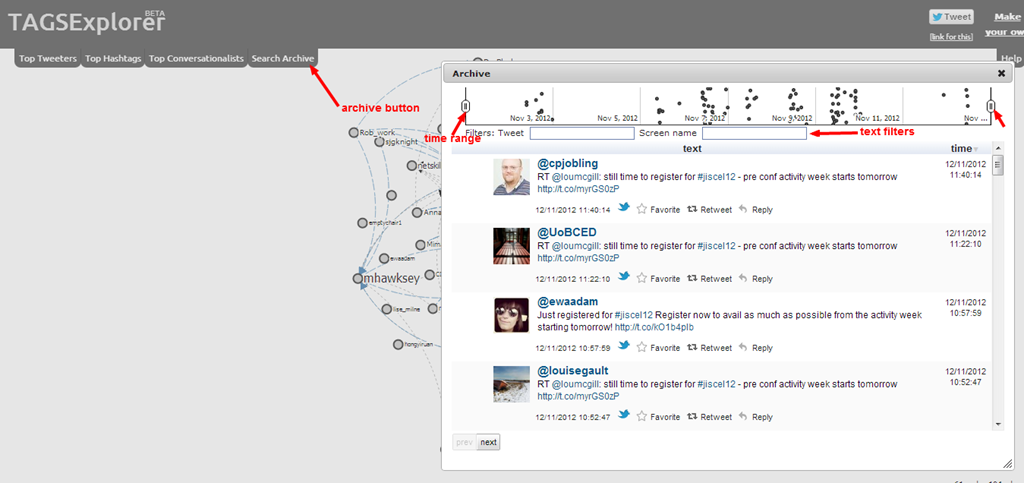TAGSExplorer now includes filterable/searchable archive