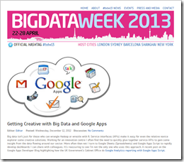Guest Post for Big Data Week #bdw13: Getting Creative with Big Data and Google Apps