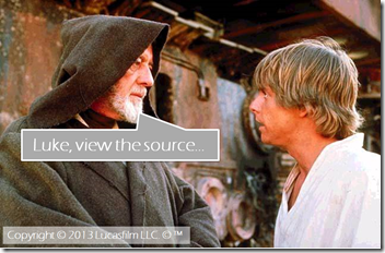 Luke, view the source