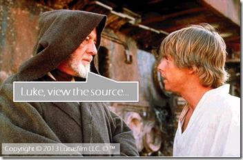 Luke, view the source