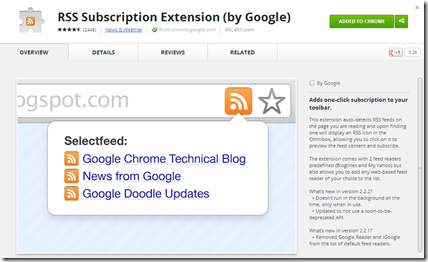 How to add Feedly to the Chrome RSS Subscription Extension (by Google)