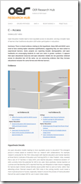 OER Research Hub Hypothesis Page C – Access