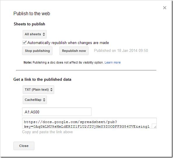 File >Publish to web