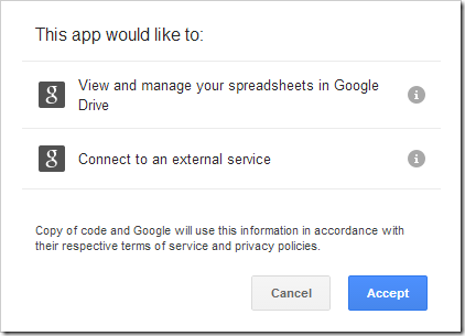 Authorization for Google Services
