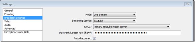 Broadcast settings