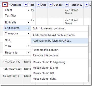 Add column by fetching URLs