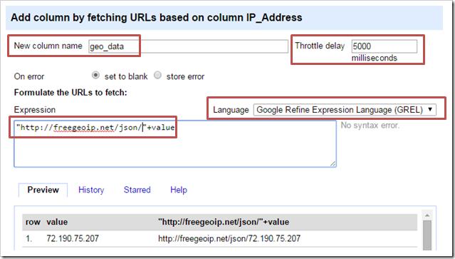 Add column by url
