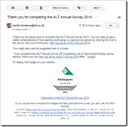 Survey participant email