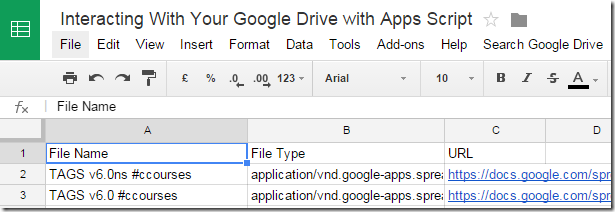 Tutorial: Interacting With Your Google Drive with Apps Script (including parsing/writing .csv files)