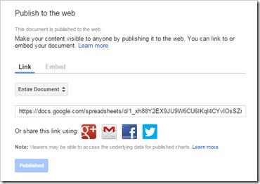 publish to web new school