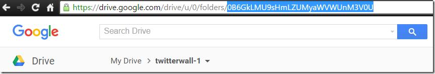 Getting Google Drive Folder ID
