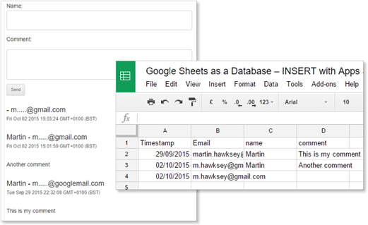 Google Sheets as a Database – Authenticated INSERT with Apps