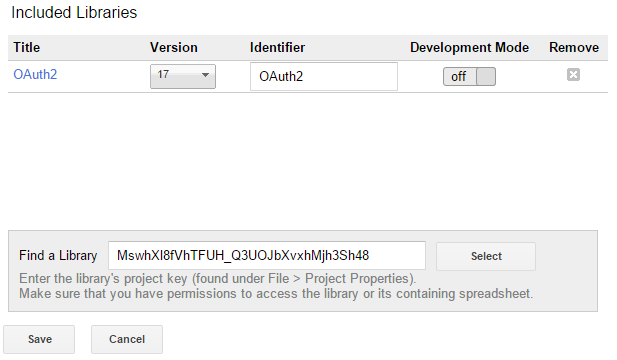 Setting up OAuth2 access with Google Apps Script: Blogger API Example
