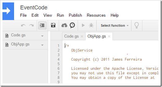 Adding a script file