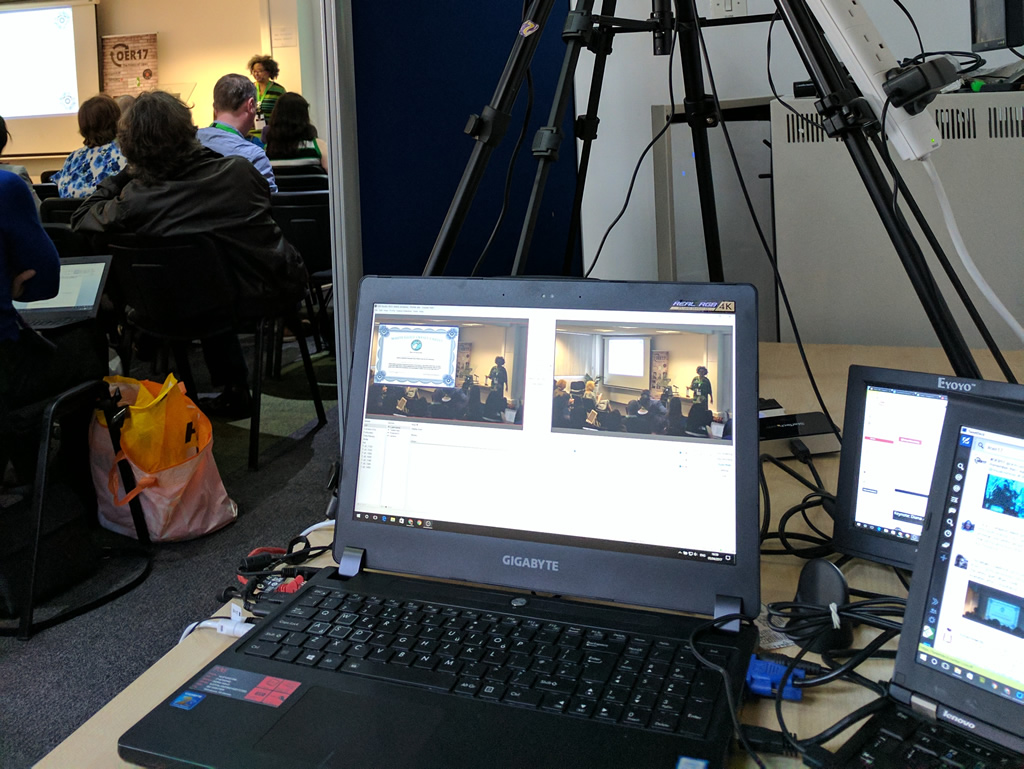 Behind the scenes at #oer17- Streaming to YouTube with Open