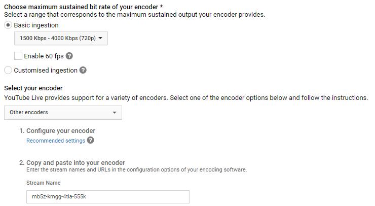 YouTube Ingestion Setup