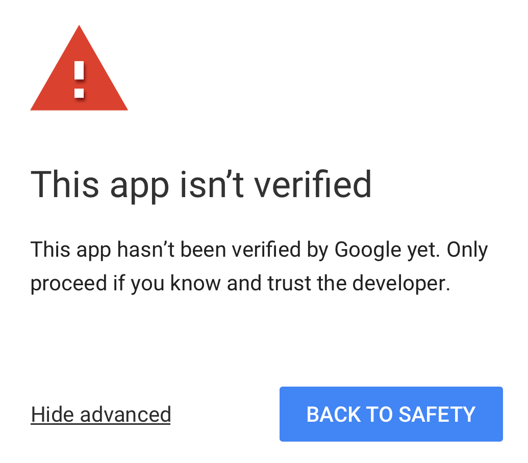 My Google Apps Script app isn't verified: Understanding why and how