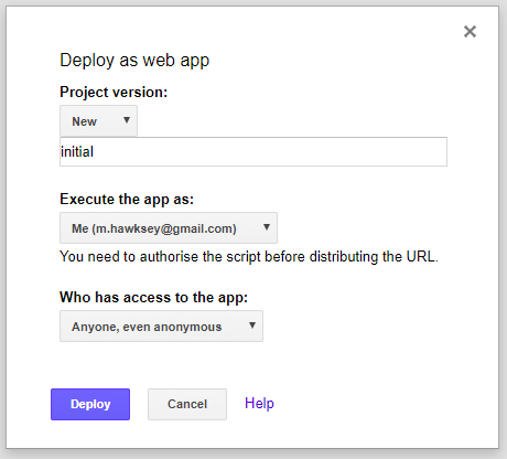 Publish - Deploy as web app