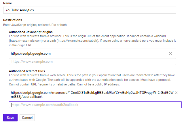 Adding redirect URL [click to enlarge]