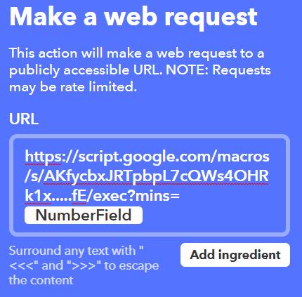 make a web request