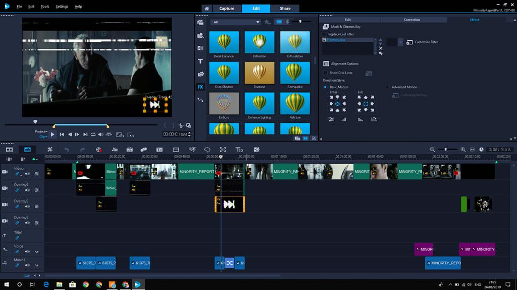 VHSifying Minority Report in VideoStudio