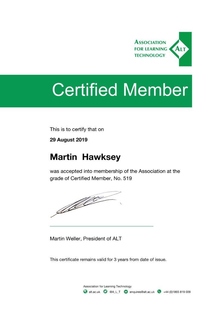 CMALT Certificate