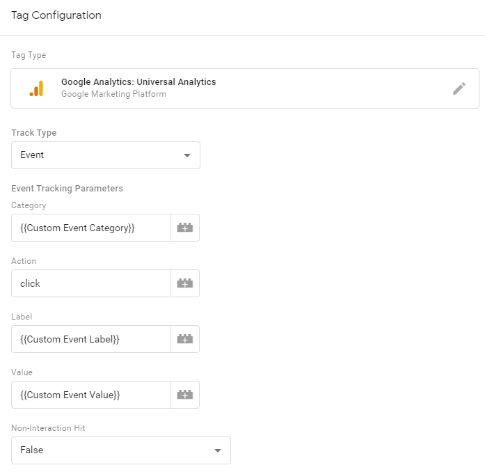 Google Analytics Tag configuration